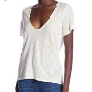 New with tags free people Saturday lace linen tee